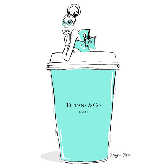 Colores de marca: el azul Tiffany, megan hess illustration
