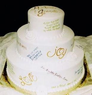 tulisan kue pengantin