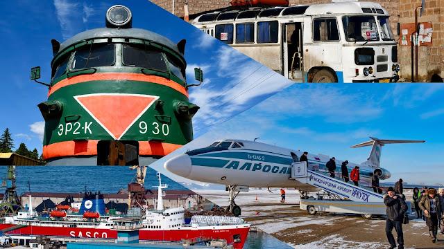 ソ連 ロシア 鉄道 バス 船 旅客機
