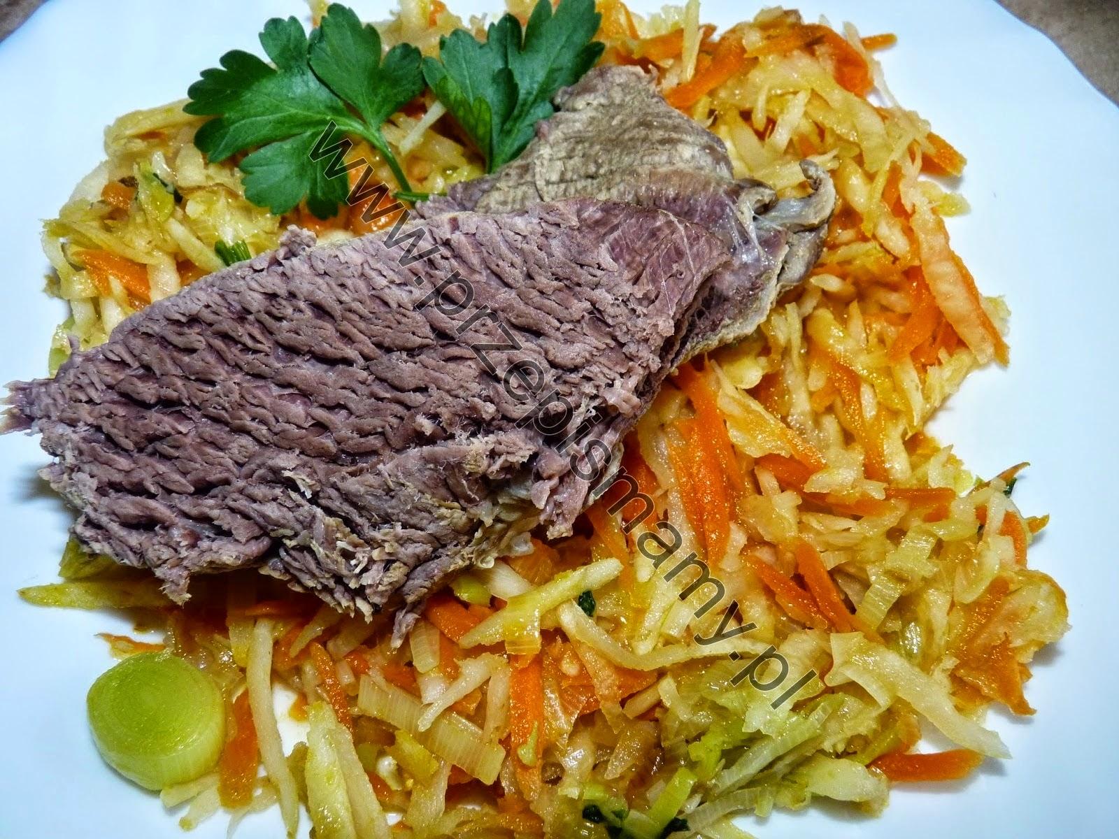 Wołowina gotowana z warzywami