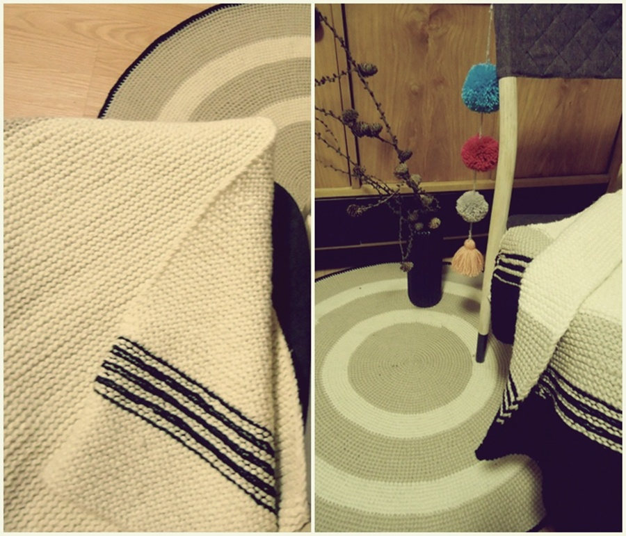 szydełkowanie, na drutach, kocyk i dywanik diy