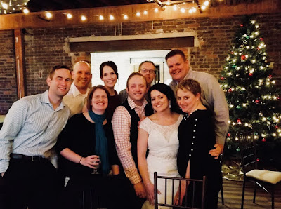Photo of the Bride and her friends at the wedding reception.