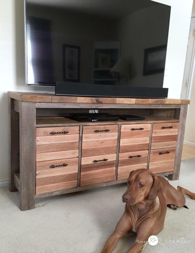 Reclaimed Wood Media Console, MyLove2Create - Reclaimed Wood Media Console My Love 2 Create