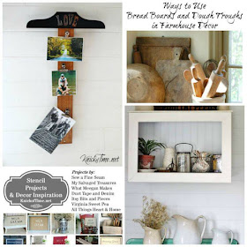 stencil, upcycled picture frames breadboards