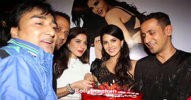 Anjjan, Sunny Leone, Kanika Kapoor and Maneet, Sunny Leone, Gauhar & Sana Khan at Baby Doll Success Party