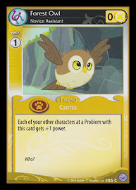 My Little Pony Forest Owl, Novice Assistant Premiere CCG Card
