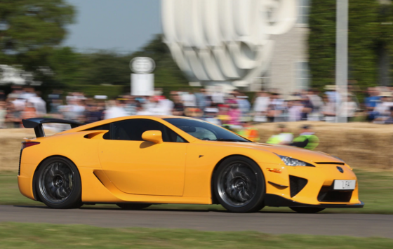 Lexus Supercar Climbs to the Top