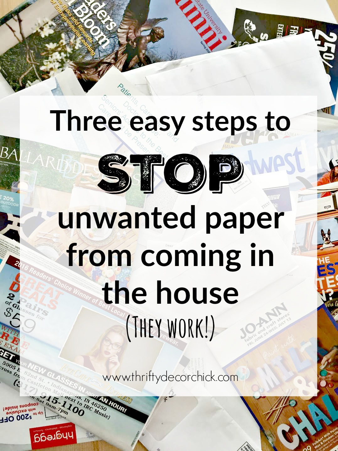 stopping junk mail in three easy steps