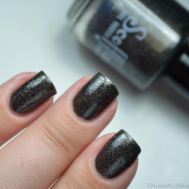 black rainbow nail polish