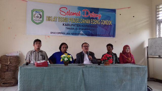 Diklat Teknis Pengolahan Enceng Gondok di Kabupaten Kepahiang