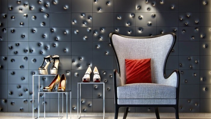 3D wall panels design for modern studio