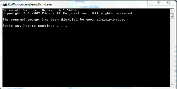 Cara Mengaktifkan Command Prompt/CMD Yang Disable Pada Windows