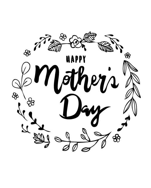 photo about Printable Mothers Day Pictures identified as Do-it-yourself Delighted Moms Working day Card Colouring Printable - Ting and