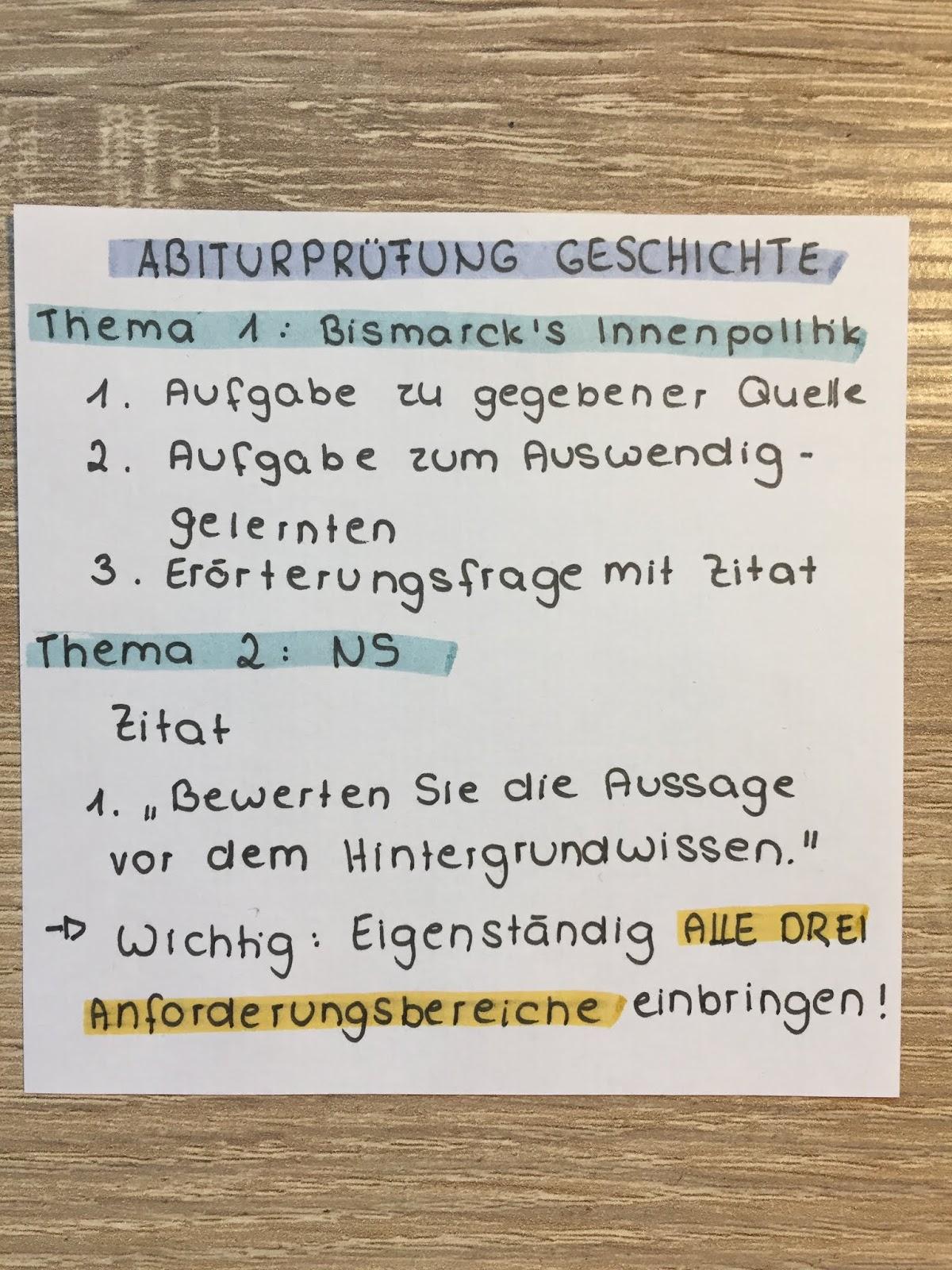 Geschichte Als Mundliches Prufungsfach Im Abitur Meine Erfahrungen