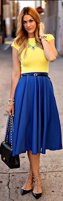saia azul blue skirt linda moda tendencia elegante moderna fashion barata atual descolada feminina mulher falda gonna blu jupe bleue midi azul caneta lisa leve