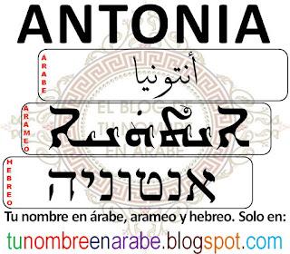 Antonia en hebreo para tatuajes
