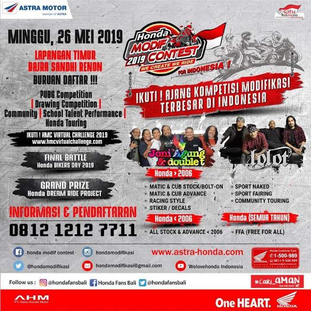 Honda Modif Contest Denpasar Bali 2019