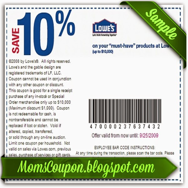 Great Deals Using Free Printable Lowes Coupons  Free Printable Coupons 2015