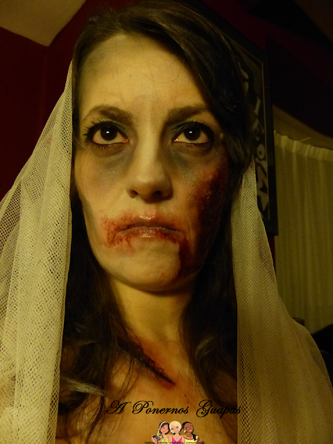 Maquillaje halloween novia zombie Oriflame 5