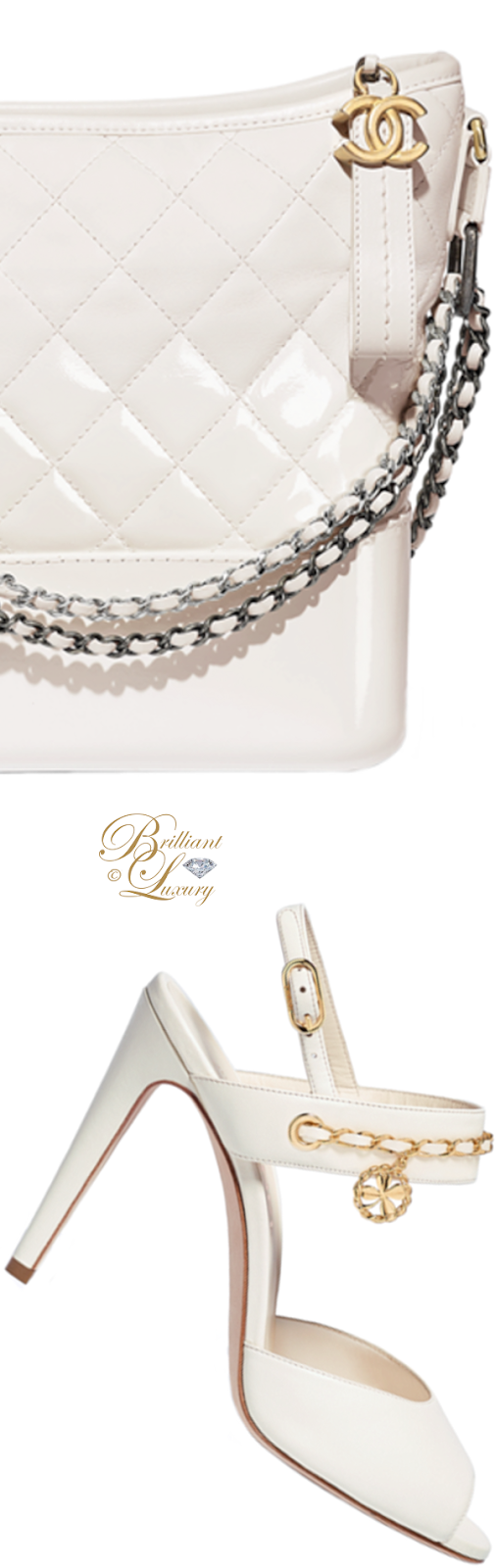 Brilliant Luxury ♦ Chanel white Gabrielle hobo bag and Chanel sandals