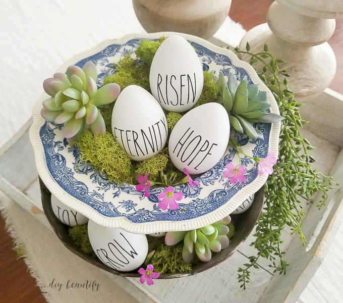 Rae Dunn Resurrection Eggs | diy beautify