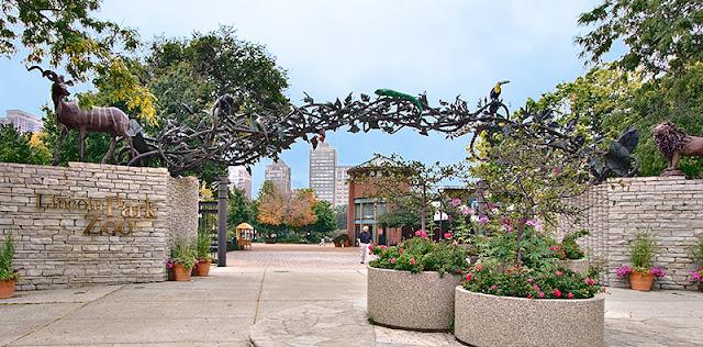 Lincoln Park Zoo na primavera em Chicago