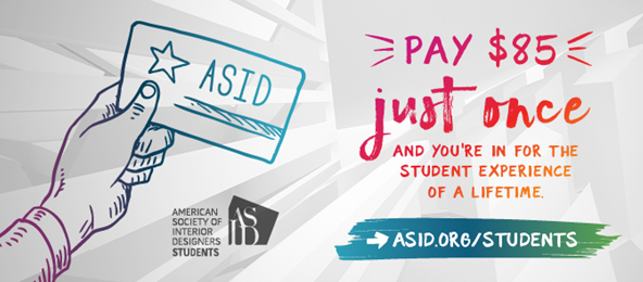 Change To Student Fee Structure For American Society Of Interior Designers!