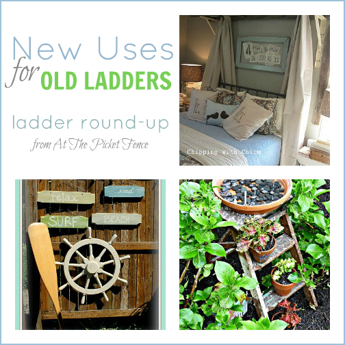 ladders, vintage, repurpose, DIY, recycle, projects