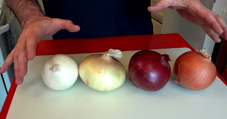 Image result for Most people don't know what you're supposed to do with each type of onion