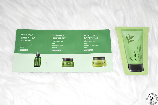 innisfree green tea beauty samples