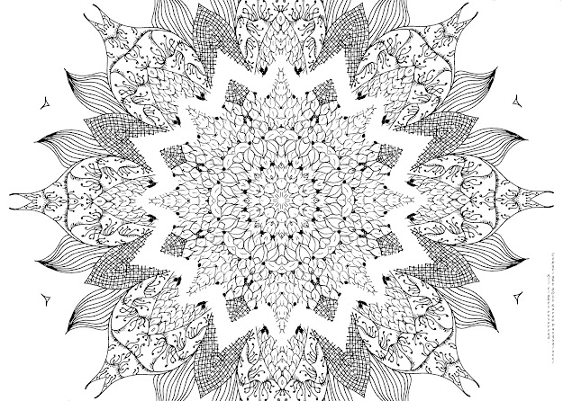 Awesome Mandala Coloring Page By Mandala Coloring Pages Printable