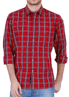 Checked Red Shirt For Your Cool Guy: Rs 671