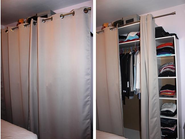 barre a rideaux pour dressing. Black Bedroom Furniture Sets. Home Design Ideas