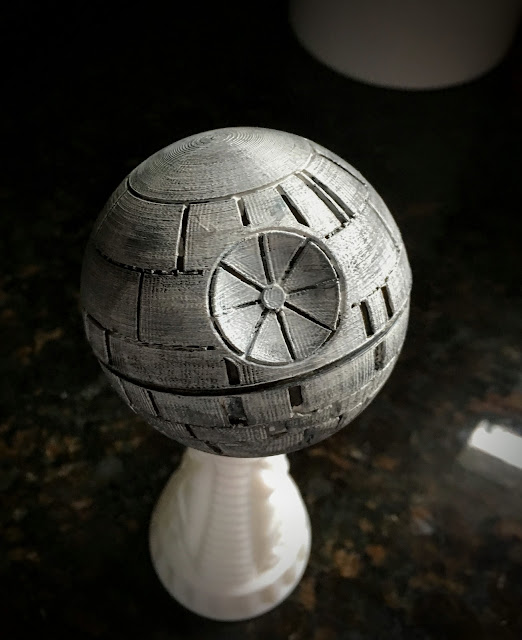 3D Printed Death Star via foobella.blogspot.com