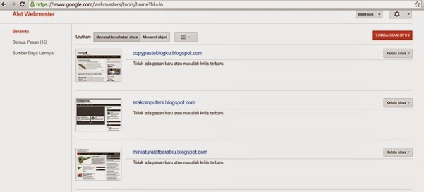 cara mendaftarkan blog/web ke google webmaster tools