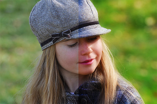 Before-and-after-result-of-soft-glowing-photo-effect-in-Photoshop
