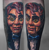 tatuaje para halloween slappy a color