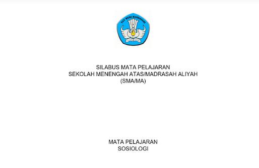 Silabus Sosiologi Peminatan Kurikulum 2013 Revisi 2017 PDF