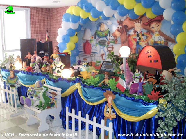 Decoração de aniversário Toy Story - Festa infantil - Tradicional luxo