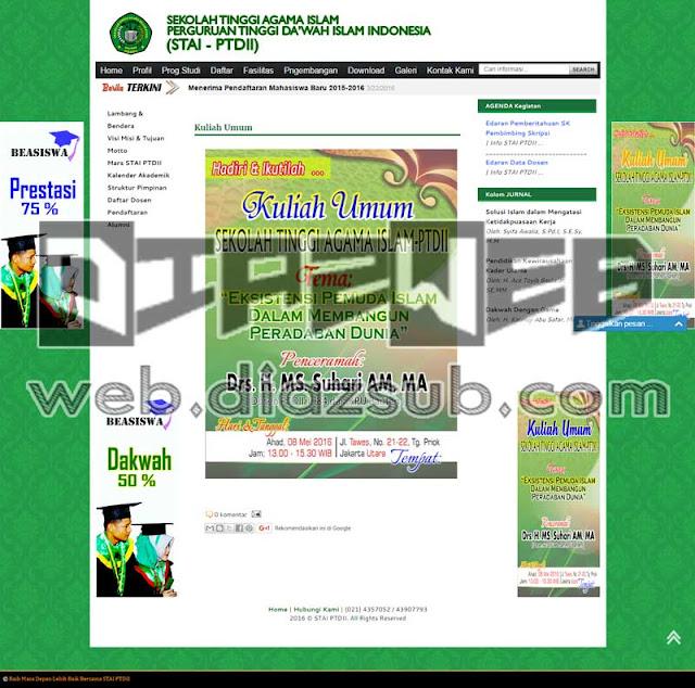 www.staiptdii.ac.id