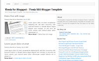 Thesis SEO Blogger Template super SEO Friendly and fast loading