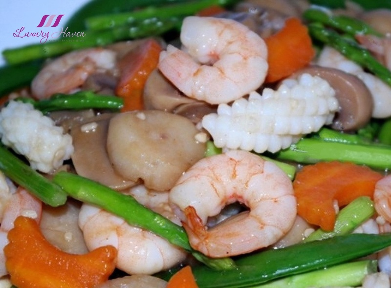 delicious stir fry seafood vegetables recipe