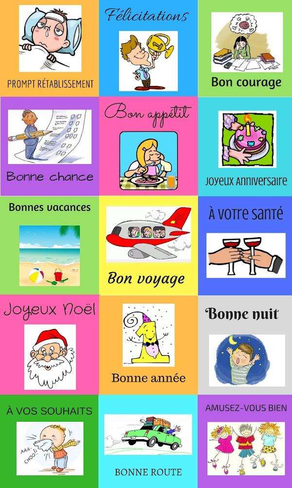 Życzenia - słownictwo 1 - Francuski przy kawie