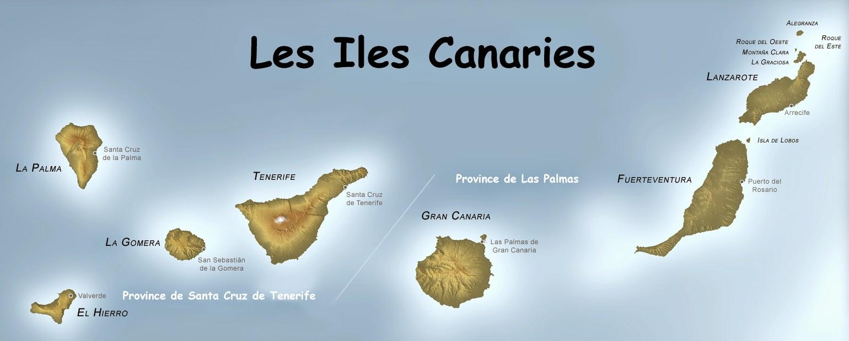 Carte générale des Iles Canaries