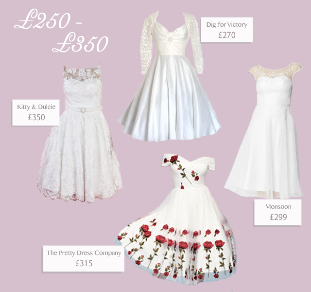 4 vintage style short dresses for £350 or less