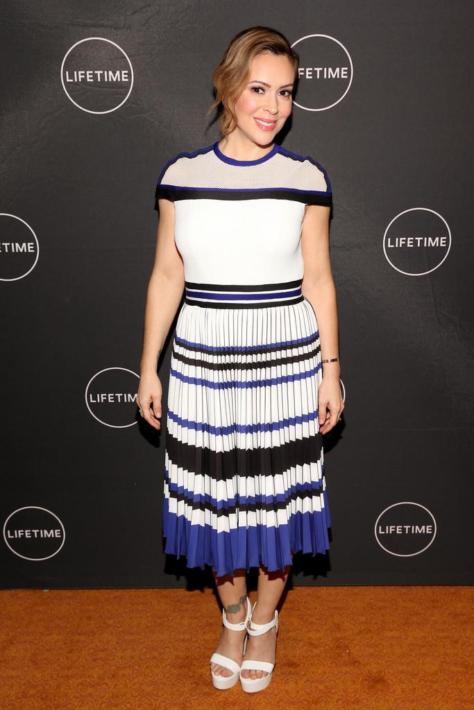 Alyssa Milano - Lifetime's Female Directors And Leading Actresses at 2019 TCA Winter Tour in Pasadena 02/10/2019
