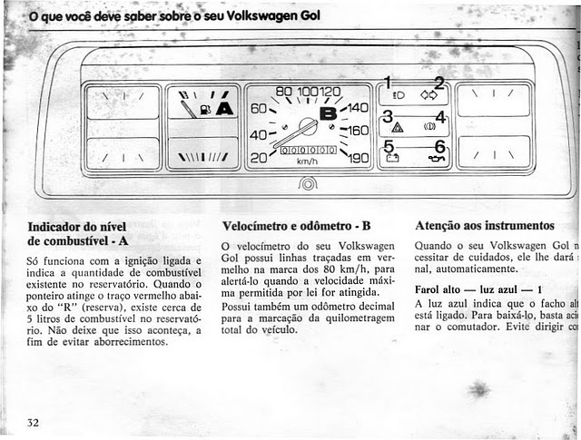 OFICINA VW : MANUAL DO PROPRIETÁRIO DO GOL BX