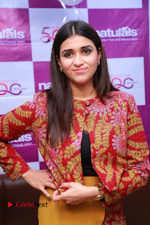 Actress Mannara Chopra Pictures at Natural Salon Launch  0012