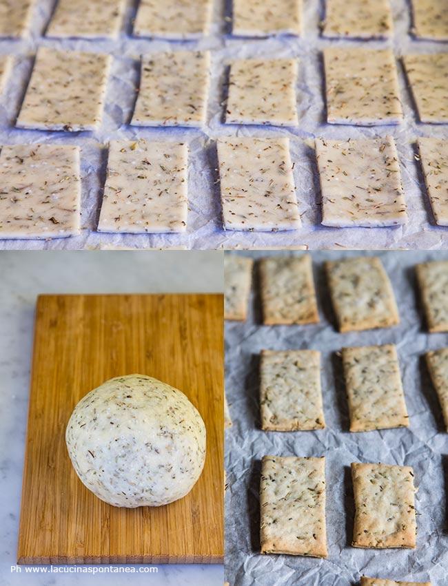 Passaggi preparazione dei crackers provenzali