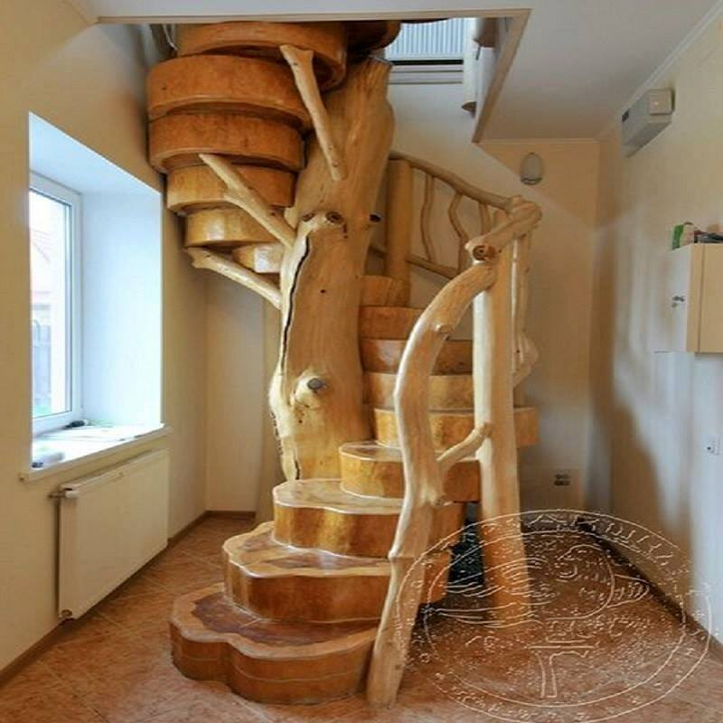 Creative Diy Tips For Decorating Your Stairs: DIY Creative Interior Tree Trunk Staircase Designs